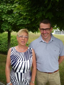 1. Vorsitzende Frau Schmitz und 2. Vorsitzender Herr Ohl