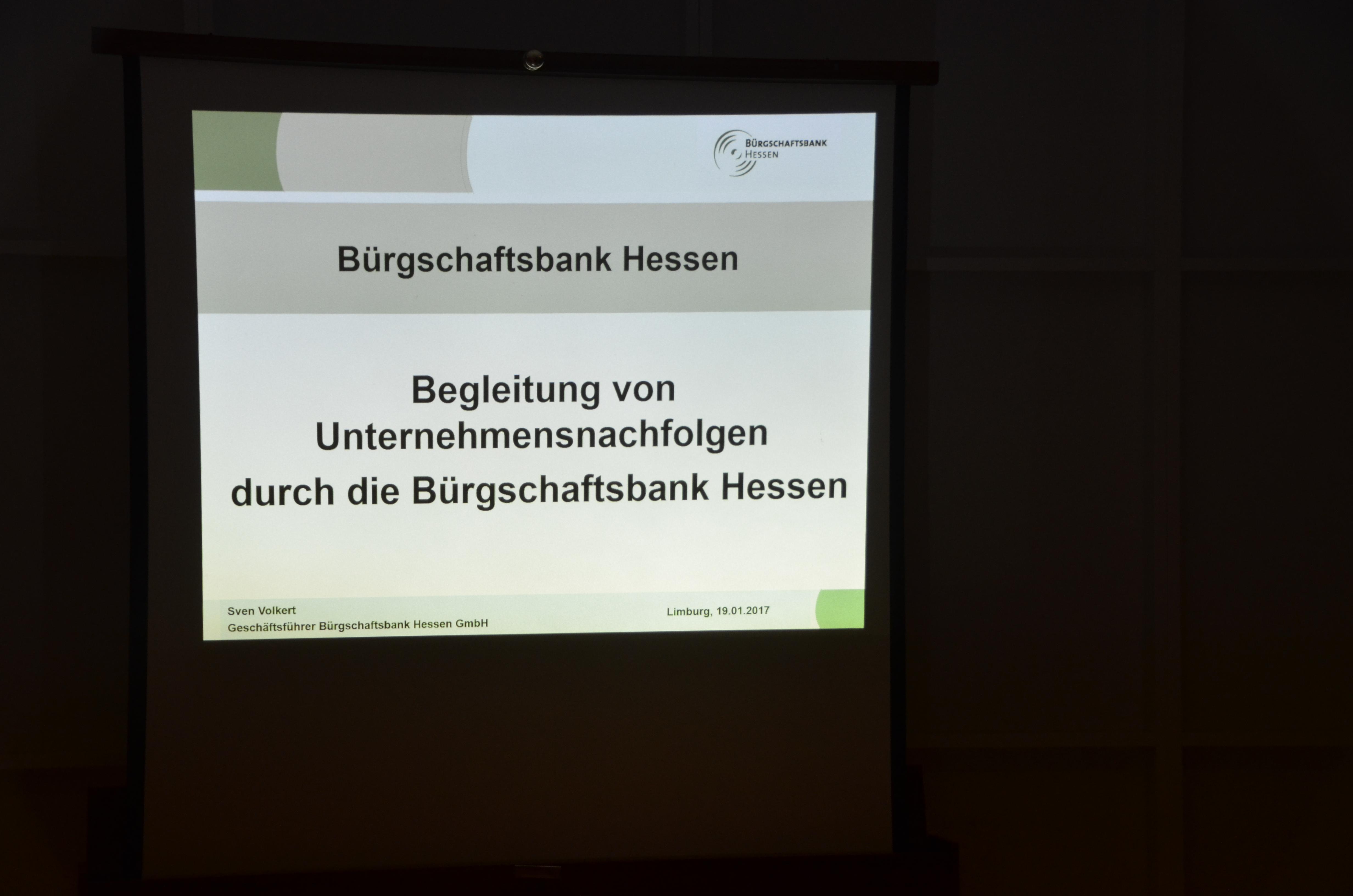 19.01.2017 Vortrag Unternehmensnachfolge – Generationenwechsel